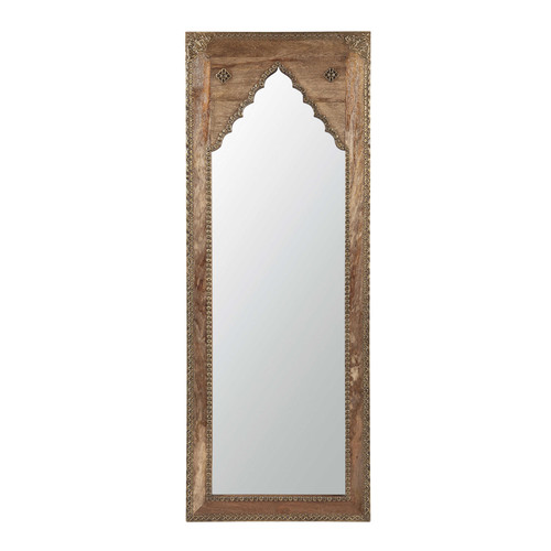 Saharanpur uitgehouwen mango houten en metalen spiegel h 122 cm maisons du monde - Metalen spiegel ...