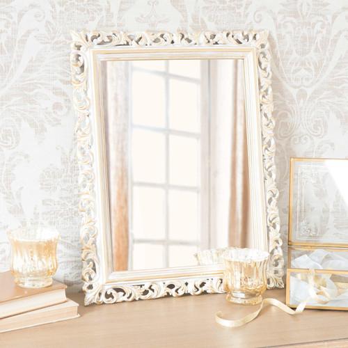 Miroir en polyr sine dor 43 cm martigny maisons du monde for Meubles martigny