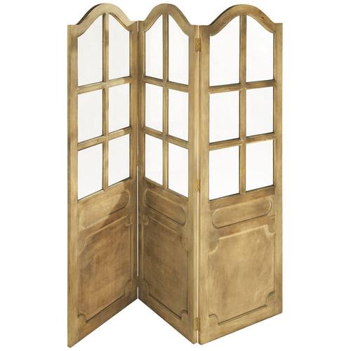 Paravento legno naturale auteuil auteuil maisons du monde for Ikea paravento catalogo