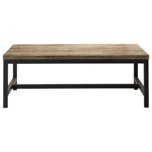 Table basse indus en bois et métal Long Island