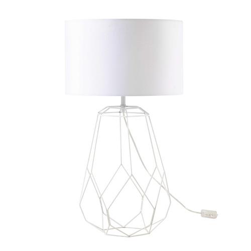 lampe en m tal blanc h 72 cm origami maisons du monde. Black Bedroom Furniture Sets. Home Design Ideas