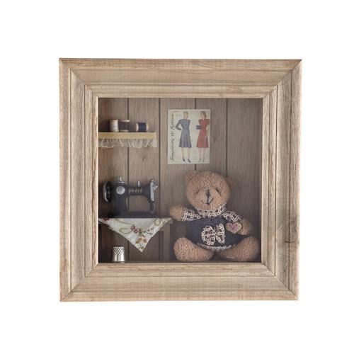 cadre bois bobines couture. Black Bedroom Furniture Sets. Home Design Ideas