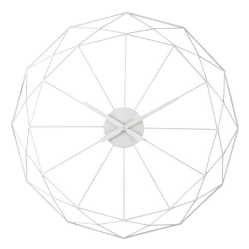 horloge en m tal blanche d 80 cm origami maisons du monde. Black Bedroom Furniture Sets. Home Design Ideas
