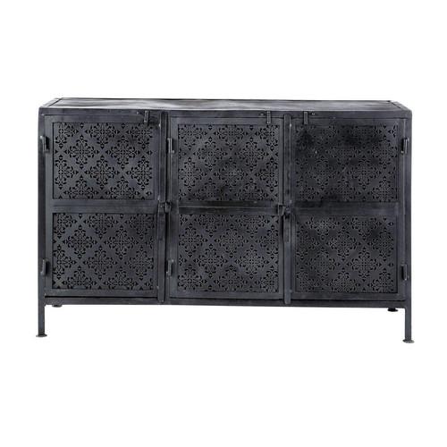 buffet en m tal noir l 130 cm menara maisons du monde. Black Bedroom Furniture Sets. Home Design Ideas