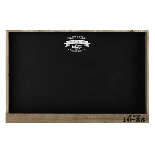 tableau ardoise en bois 70 x 107 cm bistrot de la marine maisons du monde. Black Bedroom Furniture Sets. Home Design Ideas