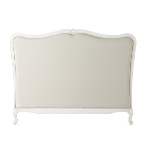 t te de lit en bois massif et coton l 140 cm jos phine. Black Bedroom Furniture Sets. Home Design Ideas