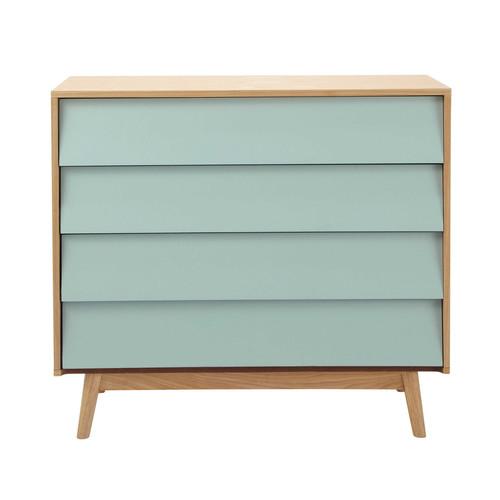 commode vintage en bois bleue l 90 cm fjord maisons du monde. Black Bedroom Furniture Sets. Home Design Ideas