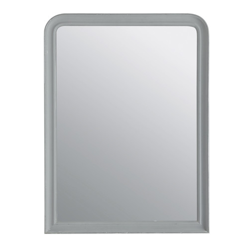 Miroir elianne arrondi gris 90x120 for Miroir 90x120