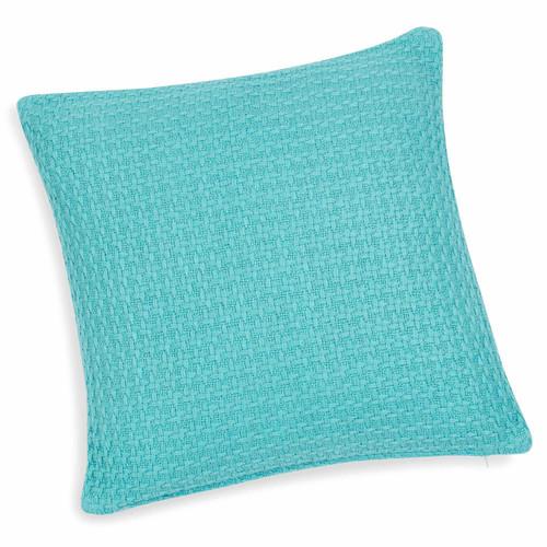 Housse de coussin en coton bleu 40 x 40 cm carlson for Housse de coussin bleu