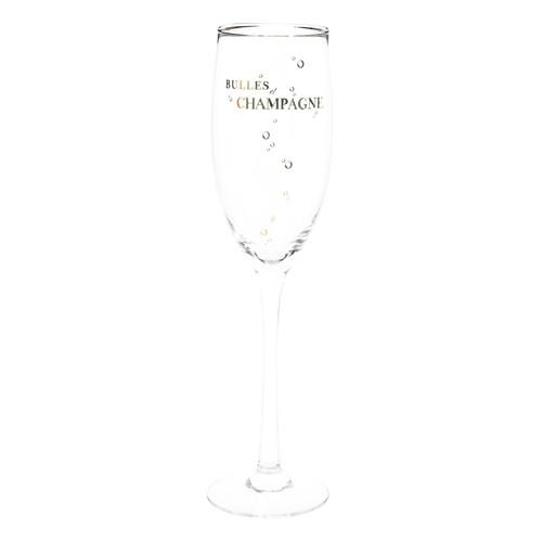 Coffret 6 fl tes champagne en verre bulles et f te - Flute champagne maison du monde ...