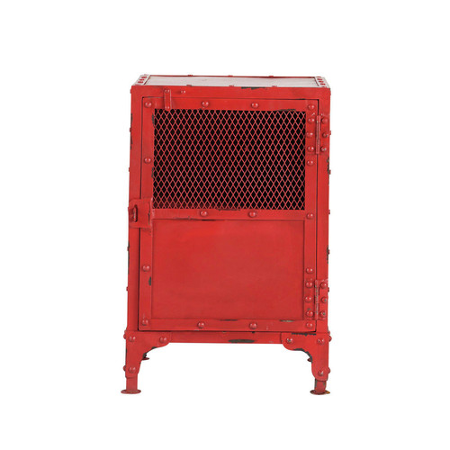 Chevet indus rouge edison maisons du monde - Table de chevet rouge ...
