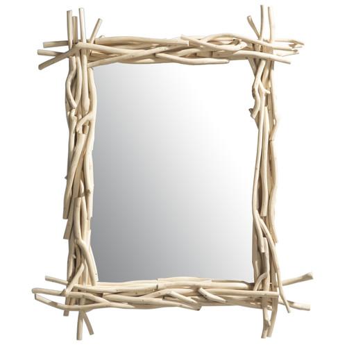 Miroir en bois flott h 113 cm rivage maisons du monde for Miroir bois flotte