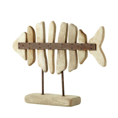 D co poisson en bois 40 x 49 cm lanester maisons du monde - Decoratie en bois ...