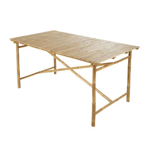 Table de jardin en bambou l 160 cm robinson maisons du monde for Table de jardin maison du monde
