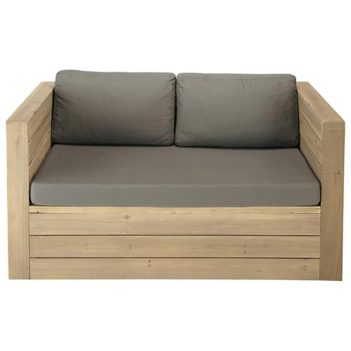 banquette de jardin 2 places en bois brehat maisons du monde. Black Bedroom Furniture Sets. Home Design Ideas