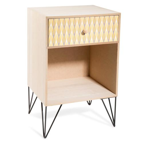 Table de chevet en bois l 30 cm yellow summer maisons du monde - Table de chevet 30 cm ...