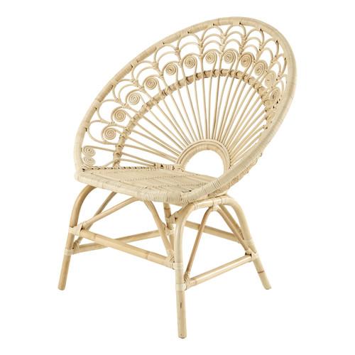 fauteuil vintage en rotin peacock maisons du monde. Black Bedroom Furniture Sets. Home Design Ideas