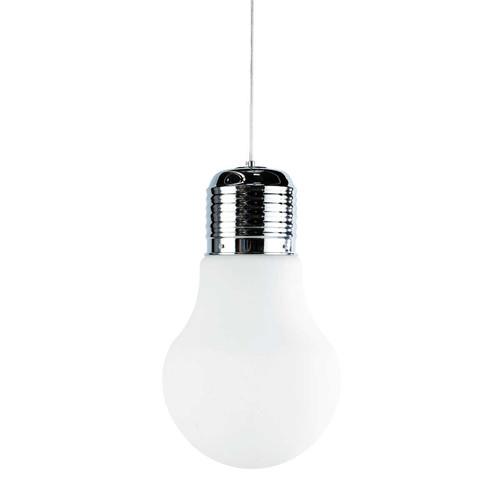 Suspension en verre et m tal d 29 cm ampoule maisons du monde - Ampoule geante suspension ...
