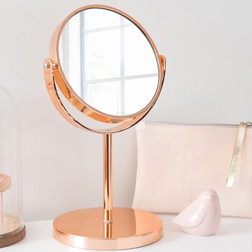 Miroir poser en m tal cuivr swaggy copper maisons du for Miroir soleil cuivre