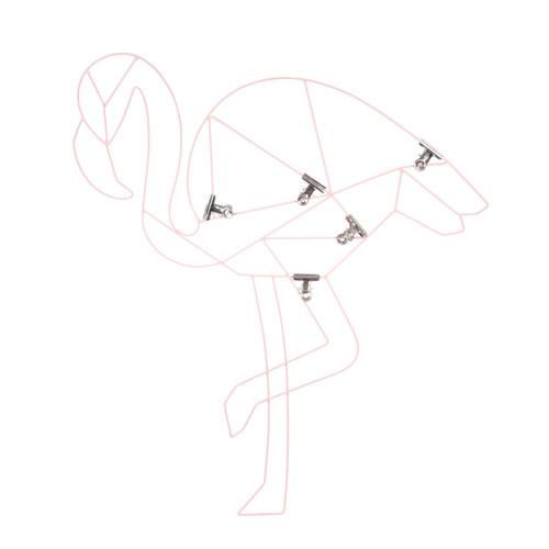 p le m le photo en m tal rose 47 x 53 cm flamingo maisons du monde. Black Bedroom Furniture Sets. Home Design Ideas