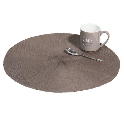 Set de table rond gris malo maisons du monde - Set de table gris ...