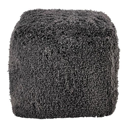 pouf en fausse fourrure grise fluffy maisons du monde. Black Bedroom Furniture Sets. Home Design Ideas