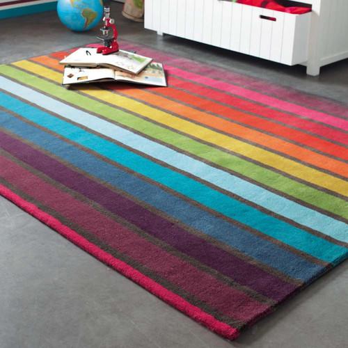 Tapis poils courts en laine multicolore 160 x 230 cm for Neon pour chambre