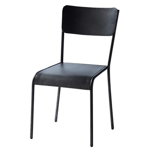 Chaise indus en m tal noire edison maisons du monde - Maisons du monde chaises ...