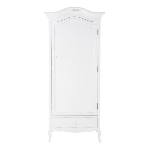armoire en bois blanche l 90 cm charlotte maisons du monde. Black Bedroom Furniture Sets. Home Design Ideas