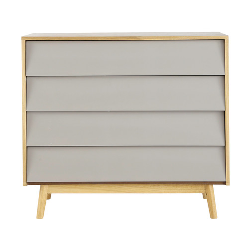 commode vintage en bois grise l 90 cm. Black Bedroom Furniture Sets. Home Design Ideas
