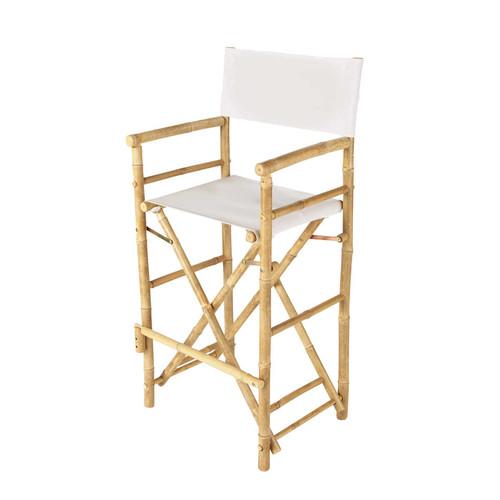 Chaise de bar de jardin en tissu et bambou crue robinson - Maison du monde chaise de bar ...