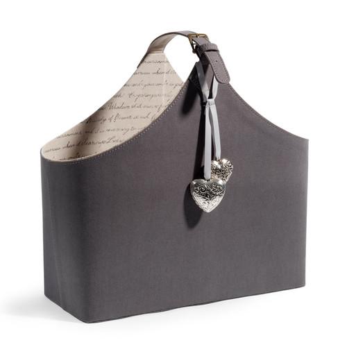 Porte revues en tissu gris calligraphie maisons du monde - Magazine maison du monde ...