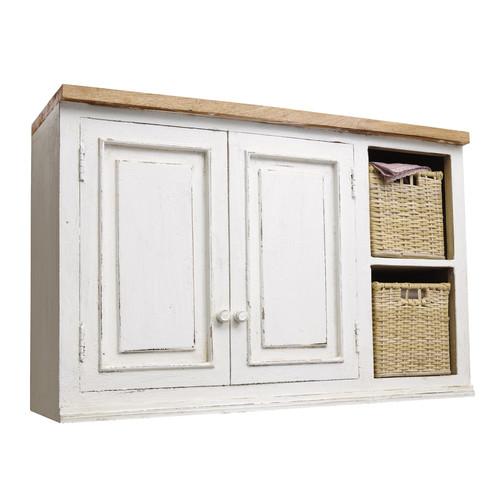 Mueble alto de cocina de madera de mango color marfil an for Mueble 50 cm alto