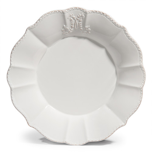assiette plate bourgeoisie blanche