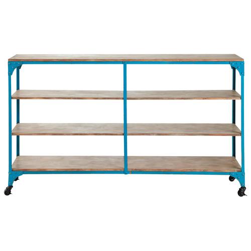Consola pa ero de estilo industrial azul brooklyn for Consola estilo industrial