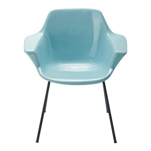 fauteuil vintage bleu guariche vampire maisons du monde. Black Bedroom Furniture Sets. Home Design Ideas