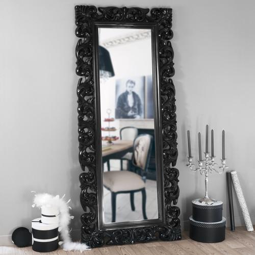 Specchio rivoli nero 190x80 maisons du monde - Miroir baroque noir rectangulaire ...