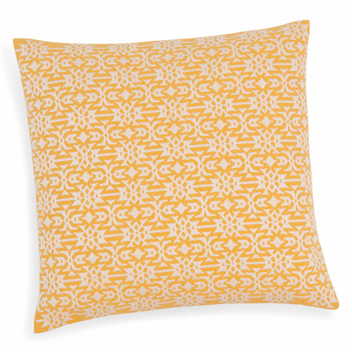 housse de coussin en coton jaune 40 x 40 cm tavira maisons du monde. Black Bedroom Furniture Sets. Home Design Ideas
