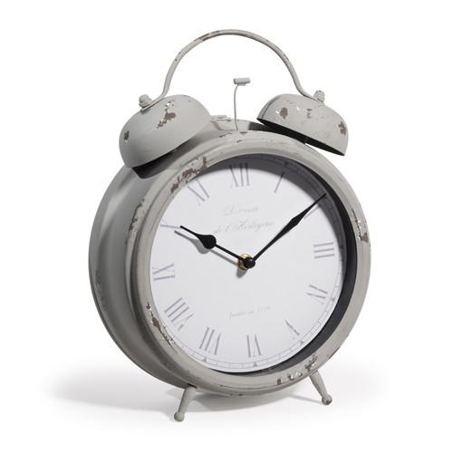 horloge grise cl mence maisons du monde. Black Bedroom Furniture Sets. Home Design Ideas