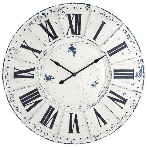 Horloge en m tal blanche d 127 cm saint lazare maisons du monde - Maison du monde saint lazare ...