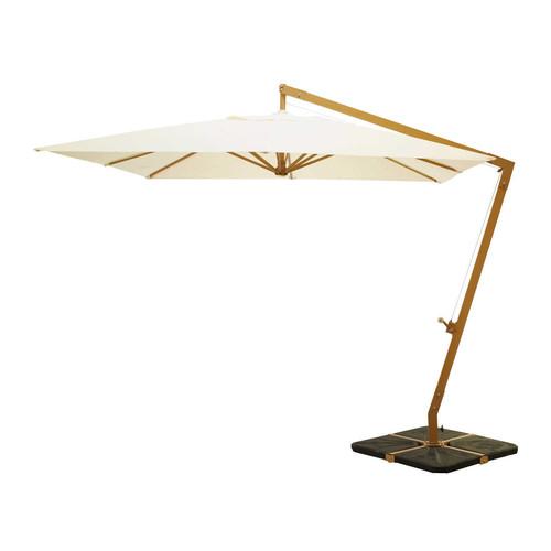 parasol d port en tissu et aluminium cru camberra. Black Bedroom Furniture Sets. Home Design Ideas