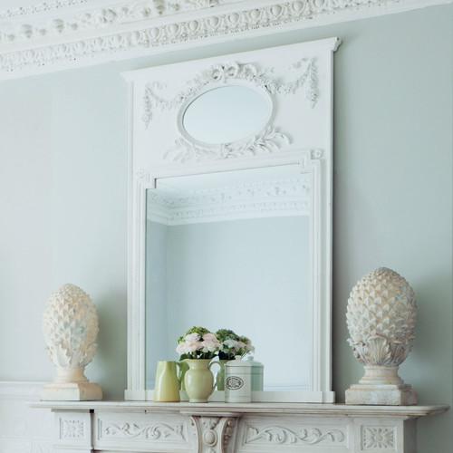 Miroir Bois Blanc : Miroir trumeau en bois blanc H 160 cm MIRANO Maisons du Monde