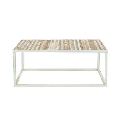 Table Basse Relevable New York But ~ Table Basse En Bois Et M?tal L 100 Cm