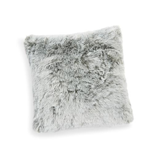 Housse de coussin en fausse fourrure 40 x 40 cm snow - Housse de coussin fausse fourrure ...