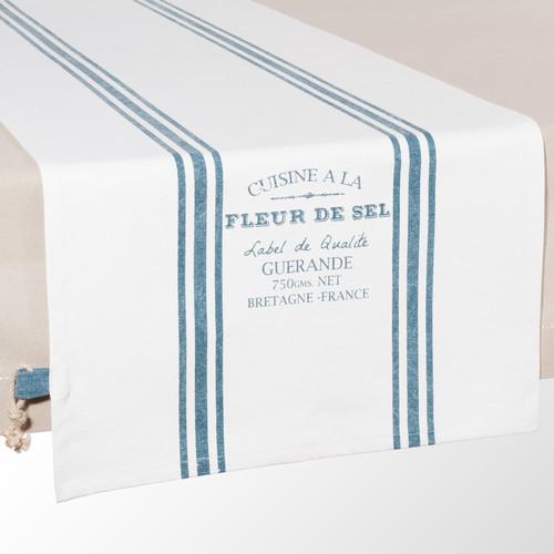 chemin de table en coton blanc l 48 cm guerande maisons. Black Bedroom Furniture Sets. Home Design Ideas