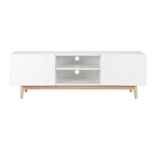 meuble tv vintage en bois blanc l 150 cm artic maisons du monde. Black Bedroom Furniture Sets. Home Design Ideas