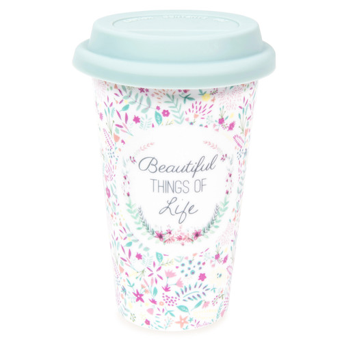 mug de voyage en porcelaine motifs fleurs beautiful maisons du monde. Black Bedroom Furniture Sets. Home Design Ideas