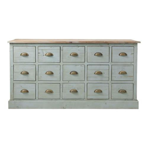 Comptoir multi tiroirs meuble de m tier en bois recycl for Comptoir du meuble angouleme