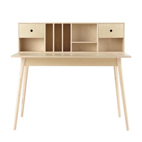Scrivania vintage in legno l 120 cm dekale maisons du monde for Bureau fille maison du monde