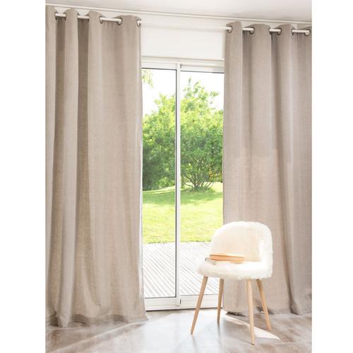 rideau coton taupe. Black Bedroom Furniture Sets. Home Design Ideas
